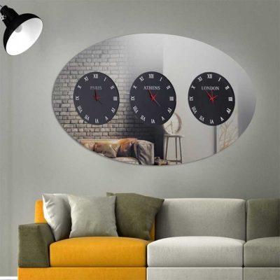 Καθρέπτης ρολόι, ZG53, Έπιπλα Ζάγκα.